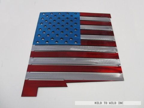 American Flag with New Mexico Shape