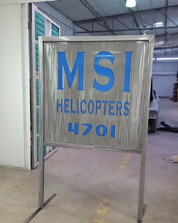 MSI Helicopter sign