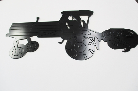 Modern Tractor Metal Sign